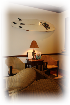 Dr. Warren has decorated his practice to emulate a relaxed, inviting, island feel.